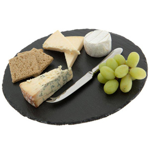 Just Slate Round Cheese Board