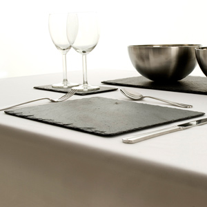 Just Slate Rectangular Placemats