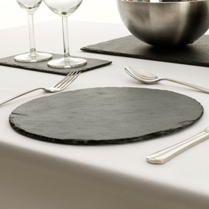 Just Slate Round Placemats