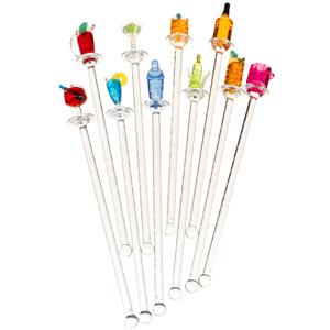 Happy Hour Acrylic Swizzle Sticks