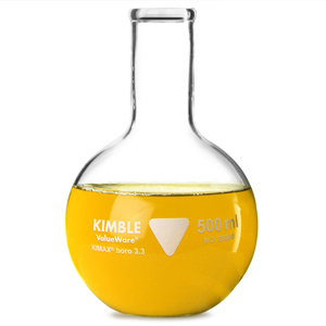 Kimble Glass Flat Bottom Flask 500ml