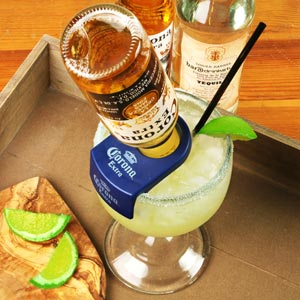 CoronaRita Bottle Holder & Schooner Glass