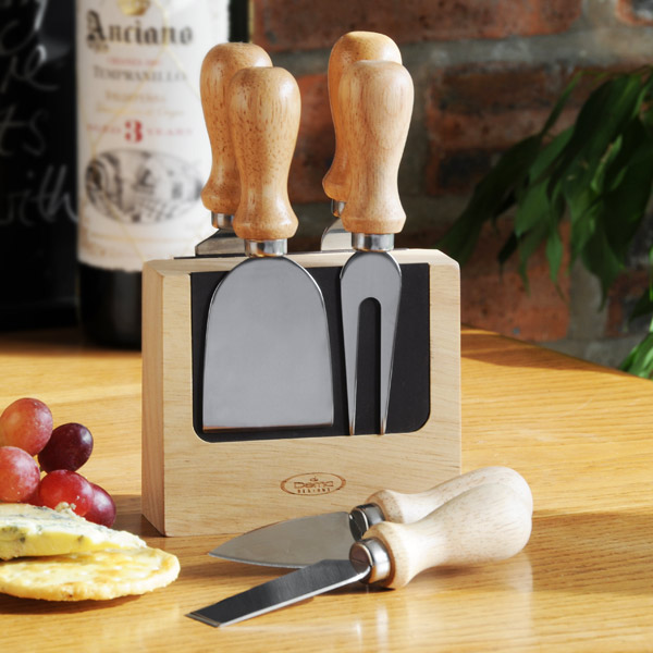 Artisan 5 Piece Cheese Knife Block Set Drinkstuff