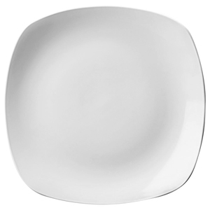 Churchill White X Squared Plate SP11 10inch / 25.2cm