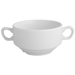 Churchill White Consomme Bowl with Handles CSC 40cl / 14oz