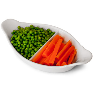 Royal Genware 2 Division Vegetable Dish 28cm