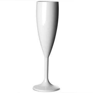 Elite Premium Polycarbonate Champagne Flute White 7oz / 200ml