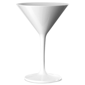 Polycarbonate Martini Glasses White 7oz / 200ml