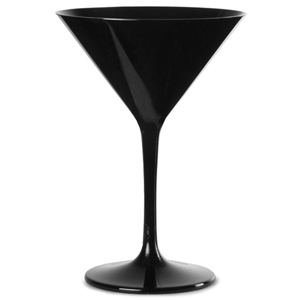Polycarbonate Martini Glasses Black 7oz / 200ml