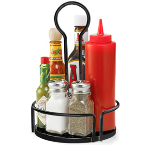 Versa Condiment Rack Black 18.5cm