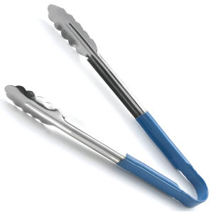 Colour Coded Stainless Steel Tongs 12inch Blue