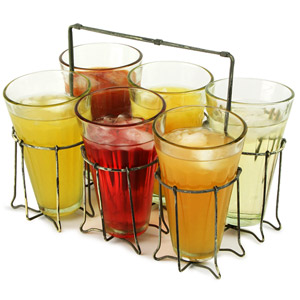 Parlane Metal Glass Holder with 6 Glasses