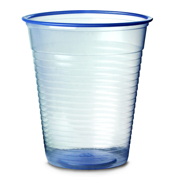 Disposable Water Cups Blue 7oz / 200ml | Polystyrene Water