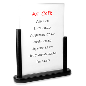 Securit PVC Table Board A4 21 x 30cm