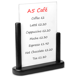 Securit PVC Table Board A5 15 x 21cm