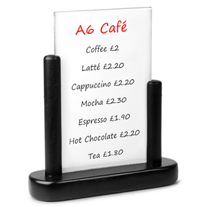 Securit PVC Table Board A6 10 x 15cm