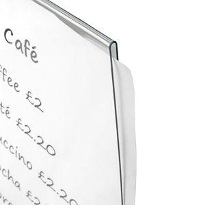Securit PVC Table Board Inserts A6 10 x 15cm