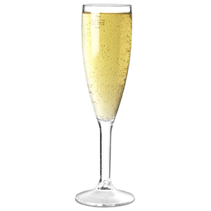 Elite Premium Polycarbonate Champagne Flutes 7oz LCE at 175ml