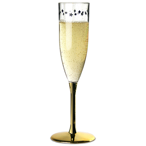 Midnight Plastic Champagne Flutes 6.4oz / 180ml