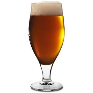 Cervoise Stemmed Head First Beer Glasses 11.3oz LCE at 10oz