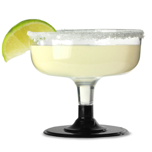 Disposable Margarita Glasses Black 6.3oz / 180ml
