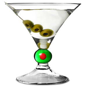 Olive Martini Glasses 6.2oz  175ml (Pack of 4)