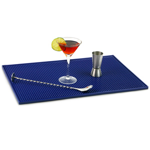 Service Bar Mat 12 x 18inch Blue