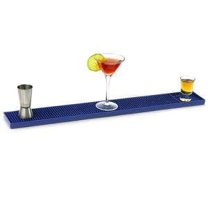 Rubber Bar Mat 24inch Blue