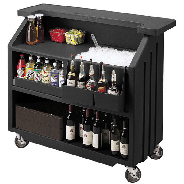 25 Mini Home Bar And Portable Bar Designs Offering: Cambro Portable Bar 540 Black
