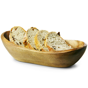 Acacia Wood Food Presentation Rustic Bowl 25cm