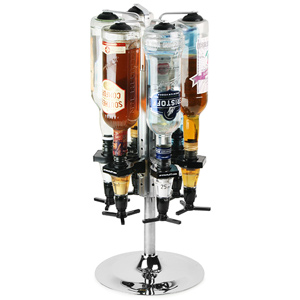 Deluxe Chrome Bottle Carousel & Measures