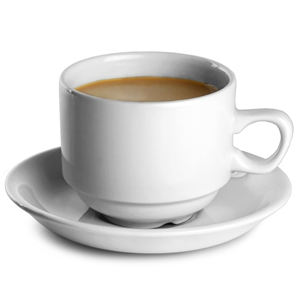 Churchill White Nova Tea Cup CN & Saucer TS 7.5oz / 21cl