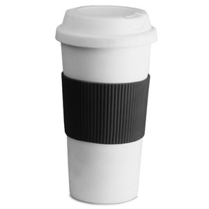 Double Wall Plastic Coffee Sipper Cup 16oz / 470ml