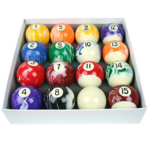 American Style Marbleised Pool Balls
