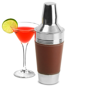 Leather Cocktail Shaker Brown