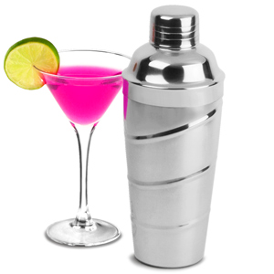 Stainless Steel Swirl Cocktail Shaker