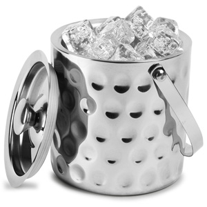 Double Walled Hammered Dimple Effect Ice Bucket