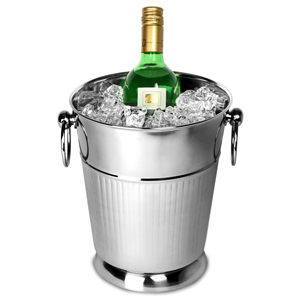 Stainless Steel Ribbed Wine & Champagne Bucket