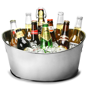 Stainless Steel Oval Party Tub Small