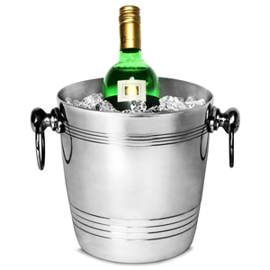 Round Aluminium Wine & Champagne Bucket with Ring Handles