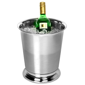 Stainless Steel Two Tone Tulip Round Wine & Champagne Bucket