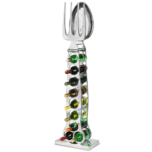 Spoon & Fork 9 Bottle Wine Rack