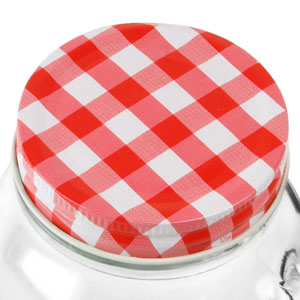 Drinking Jar Lids Red & White