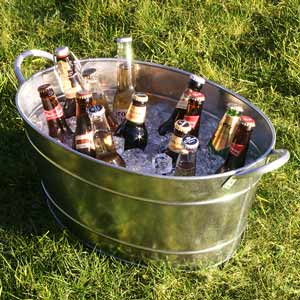 Galvanised Steel Oval Party Tub