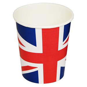 Union Jack Paper Cups 8.8oz / 250ml