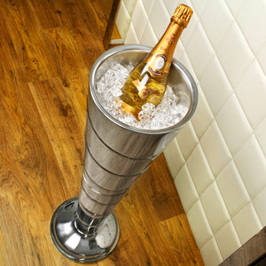 Double Walled Ribbed Cone Design Wine & Champagne Cooler