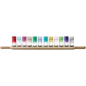 LSA Paddle Grand Vodka Set & Oak Paddle Assorted Colours