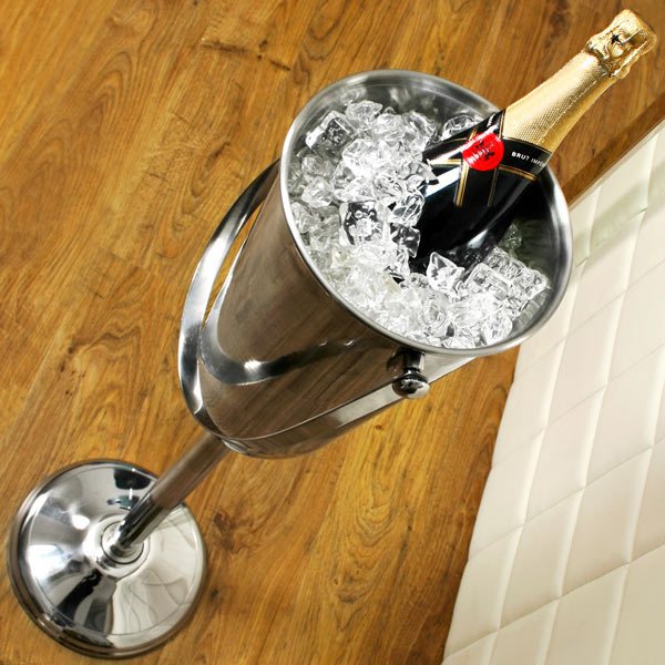 Tall Wine Champagne Bucket On Stand