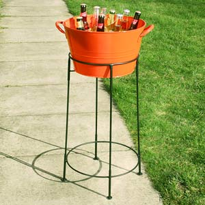 Party Tub with Stand Orange