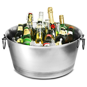 Double Walled Stainless Steel Party Tub